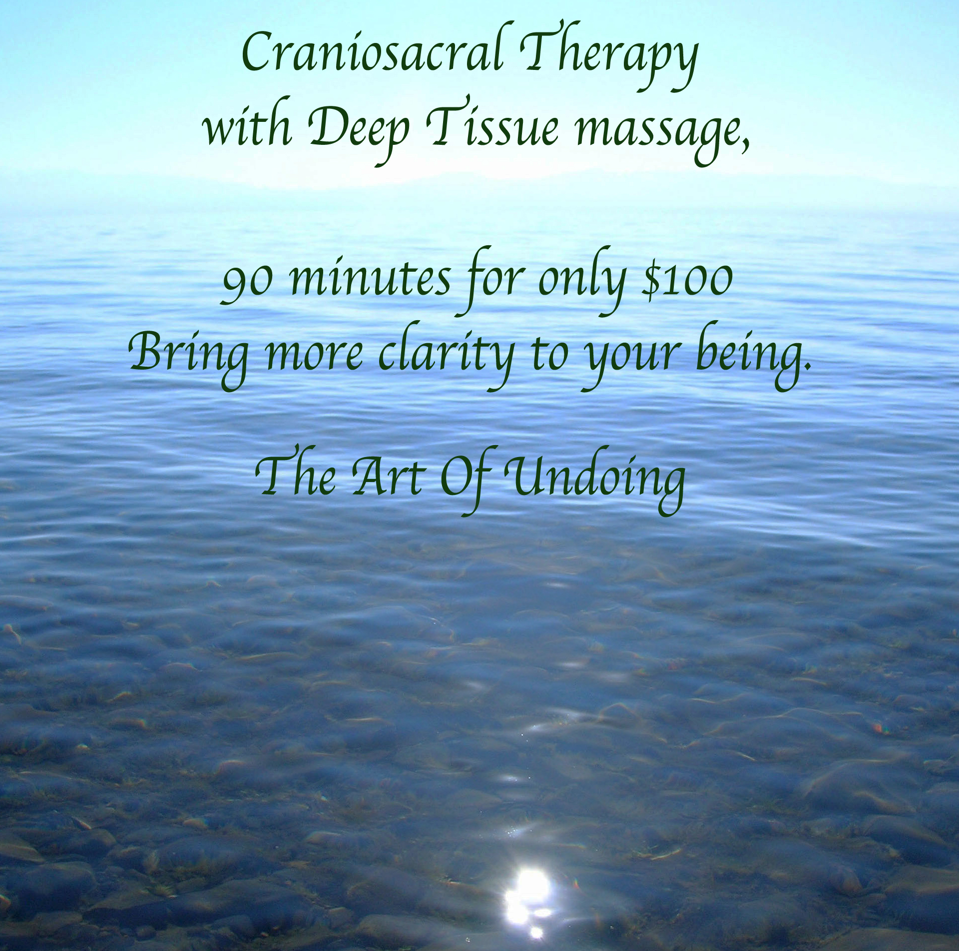 Craniosacral Therapy Massage Asheville